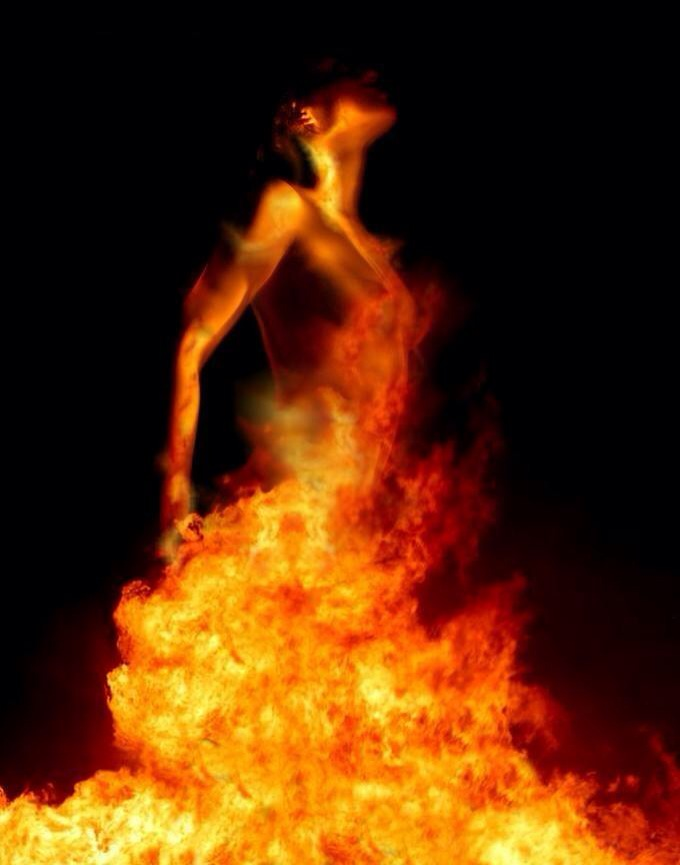 Woman Rising From The Fire