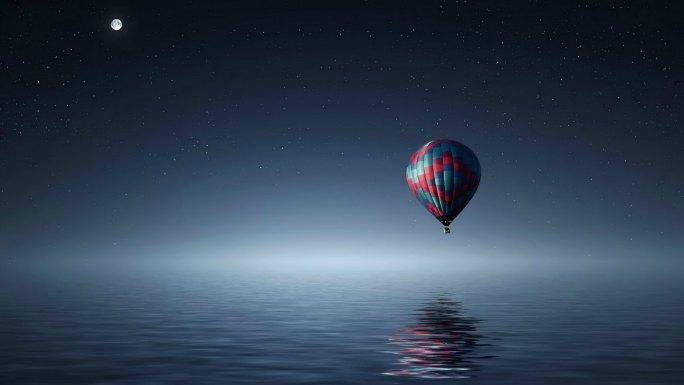 balloon over full moon ocean what is dreamwork